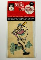 1960's Baseball Giants Team Iron On Transfer Vintage