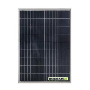Pannello Solare Fotovoltaico 5 Bus 100W 12V Policristallino Batteria Barca Campe