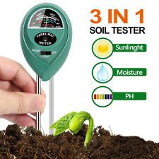 1 x 3 In 1 Garden Soil Moisture/Light/PH Tester Soil Meter For Plant Test Pen US