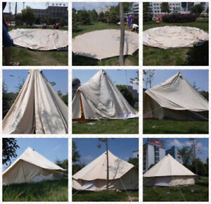 4-Season Glamping Bell Tent Yurt Waterproof Cotton Canvas Family Outdoor 9.8 ft