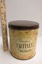 Vintage Antique KEEBLER Saltine Cracker Tin Container Can by Weyl Baking Co