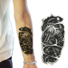 1X Einmal-Tattoo Temporary Tattoo Wasserdicht Armband Body Makeup Schwarz Deko