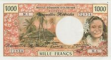 More details for p20c 1979 new hebrides 1000 francs banknote in near mint condition signature 3a