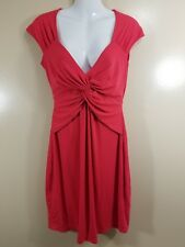 BCBG Max Azria Women's Sleeveless V-Neck Dress Red Size XS