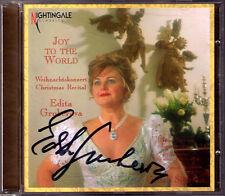 Edita GRUBEROVA Signiert JOY TO THE WORLD Weihnachtslieder Christmas Purcell CD