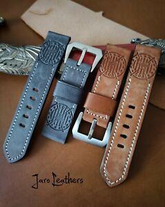 Natural leather watch strap Panerai belt Handmade  Aviation Belt Military Belt