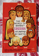 ANCIEN CATALOGUE BARBIE-The world of barbie fashions and playing, MATTEL BOOK 1