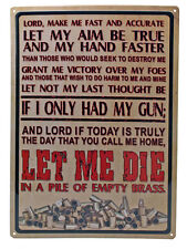 """""""Lord Make Me Fast and Accurate"""" Metal Sign ManCave FUNNY indoor/outdoor 17""""x12"""""""
