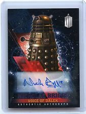 2016 Topps Doctor Who Timeless Nicholas Briggs as Voice of Dalek Auto!! 15/25!!