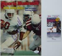 Earl Campbell SIGNED Autographed 1977 Sports Illustrated COVER ONLY HOF JSA COA