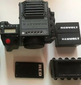 RED SCARLET ΜX CAMERA 5K Cinema Kit Canon & PL Mounts Side Handle XLR A Box