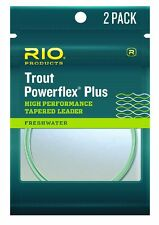 RIO Powerflex Plus Leaders - 2 Pack - Size-5X - 9ft - 6lb - New