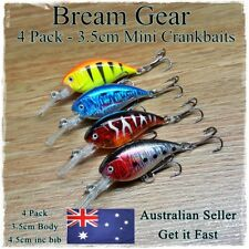 Bream Fishing Lures, Flathead, Redfin, Trout, Perch Deep Diving Mini Crankbait 4