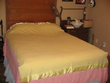 "VINTAGE NORTH STAR  YELLOW WOOL BLEND(?) SOFT BLANKET-MOTH PROOFED- 60"" x 82"""
