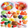Children Pretend Role Play Toy Cutting Fruit Plastic Vegetables Food Kitchen Toy