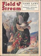 Field & Stream magazine October 1928  Arthur Fuller  cover  hunting fishing