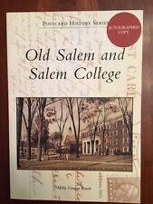 SIGNED Postcard History Old Salem & Salem College, Winston-Salem, North Carolina