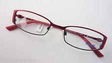 Reebock Marken Fassung Damen Brille Edelstahl schmale Form rot schwarz Größe S