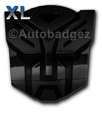"2 - NEW Transformers AUTOBOT AUTOBOTS badges emblems GLOSS BLACK (3"" and 5"")"