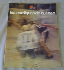 1977-78 WHA Quebec Nordiques vs Edmonton Oilers Hockey Program  # 2