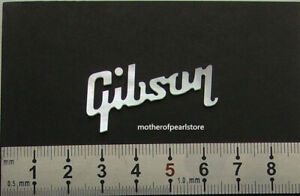 """1pc 1.3mm/0.05""""Thickness Gibson Peghead Inlay Logo Solid Mother of Pearl"""