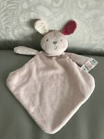 Tesco F&F Pink lapin Bunny Rabbit Baby Comforter Blankie Soother Doudou Soft Toy