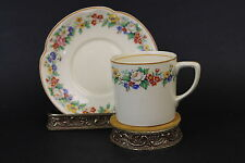 VTG Signed Victorian Johnson Bros England Porcelain China Tea Cup & Saucer Set
