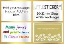 Personalised Address labels and stickers free designer service x50 RECTANGLES M