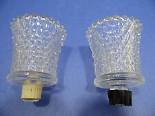 Home Interiors Candle Cup Votive Tealight Set of 2 Homco Clear Glass Diamond