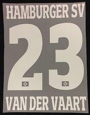HSV Hamburger SV VAN DER VAART Flock 25 cm fürs adidas Away Trikot 2016-2017