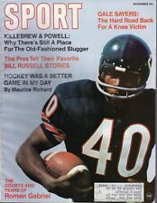 1969 NOV Sport Magazine, Football, Gale Sayers, Chicago Bears, Sal Bando A's~ VG