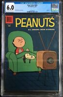 Four Color #878 CGC 6.0 Peanuts #1 Dell  Dale Hale 1958 1st Peanuts!