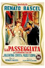 manifesto 2F film LA PASSEGGIATA Renato Rascel Valentina Cortese 1953