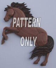 NEW  HORSE REARING ~INTARSIA WOOD PATTERN ~   (Original)
