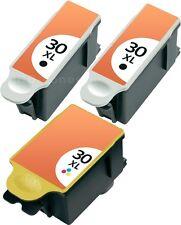 3 DRUCKER PATRONE für KODAK 30 XL ESP OFFICE 2100 2150 2170 HERO 3.1 HERO 5.1