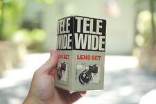 NOS NEW OLD STOCK Vintage Tele Wide Lens Set For Canon Sure Shot 35mm Camera