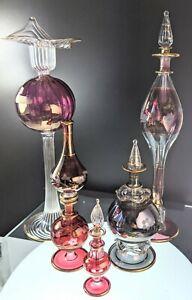 Vintage Handmade Egyptian Perfume Bottle bottles made pre 1995 JCE17 34