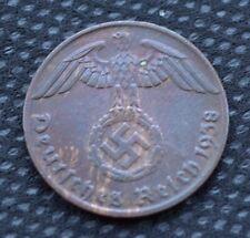 WW2 1 REICHSPFENNIG J 1938 COIN WW2 THIRD REICH GERMANY HITLER ERA  /44