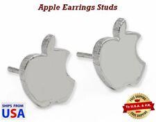 Exquisite Apple Earrings Studs (Hypoallergenic) in a Heart Display Case