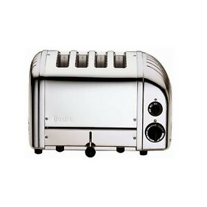 Dualit Classic 4 Slot Slice Toaster Polished Stainless Steel 40590  BRAND NEW