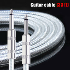 Kmise Guitar Cable Instrument Cord Straight 33ft OFC Braided for Electric Guitar