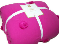 Pottery Barn Teen Darker Pink Crinkle Puff Twin Quilt New