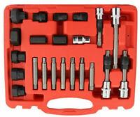 22pc Alternator Freewheel Pulley Remover Socket Set Bosch Pulley Universal Kit