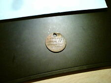VINTAGE WWI DOG TAG A MEEKHAM SNR 11 CYRIL ST NUMBER ONE CONSETT MEDAL