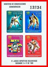 COLOMBIA 1961 LOCAL SPORTS S/S SC#C419 MNH  CV$8.00 FOOTBALL BASEBALL D03