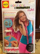 Alex Earphone Couture Fluffy Yarn Craft Create Earbuds 8+ idevices MP3 players