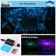 Car Use RGBW Twinkle LED Fiber Optic Star Ceiling Kit DIY 16W 270pcs 2M 0.75mm