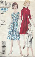 1963 Vintage VOGUE Sewing Pattern DRESS B38 (1537)