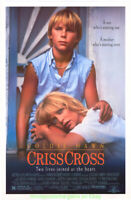 CRISS CROSS MOVIE POSTER Original 27x41 Rolled CRISSCROSS  GOLDIE HAWN 1992