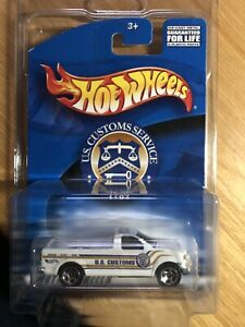 Hot Wheels RARE- 2002 U.S. Customs Service '97 Ford F-150 White-  LAST ONE